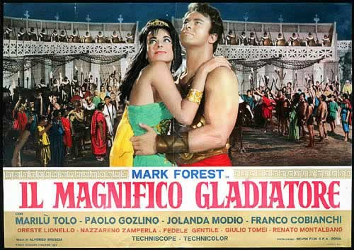 magnifico gladiatore, mark forest