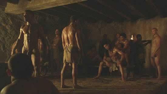 Spartacus gay sexe scènes